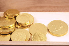Monete del cioccolato Fotografia Stock Libera da Diritti