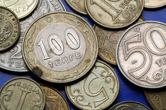 Monete del Kazakistan Fotografie Stock