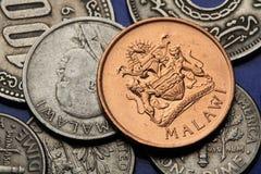 Monete del Malawi Fotografia Stock