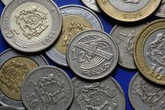 Monete del Marocco immagini stock