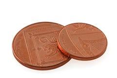 Monete del Regno Unito dei soldi Immagini Stock Libere da Diritti