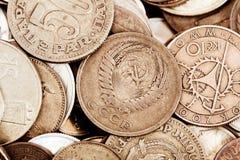 Monete del tesoro dell'oro Fotografia Stock