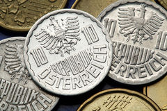Monete dell'Austria Fotografie Stock
