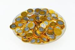 Monete dell'euro della caramella Fotografie Stock Libere da Diritti
