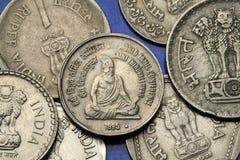 Monete dell'India Fotografie Stock