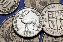Monete dell'Isola Maurizio immagini stock libere da diritti