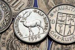 Monete dell'Isola Maurizio immagini stock