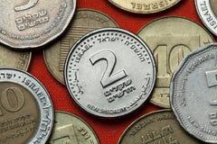 Monete dell'Israele Immagine Stock Libera da Diritti