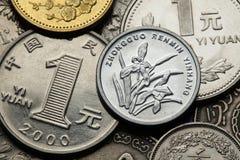 Monete della Cina Fotografia Stock Libera da Diritti