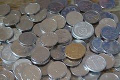 Monete della Cina Il fiore della peonia ha descritto nell'una moneta cinese di yuan Fotografia Stock