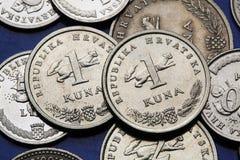 Monete della Croazia Fotografie Stock Libere da Diritti