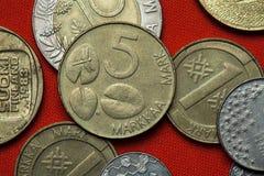 Monete della Finlandia Immagini Stock