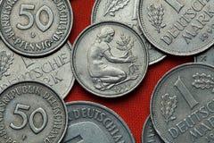 Monete della Germania Fotografia Stock Libera da Diritti
