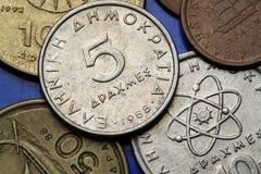 Monete della Grecia Fotografia Stock
