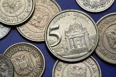 Monete della Iugoslavia Fotografie Stock