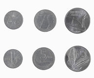 Monete della Lira di Italan Fotografie Stock