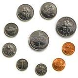 Monete della Malesia - macro Fotografia Stock
