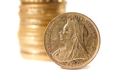 Monete della regina Port Victoria Fotografia Stock