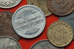 Monete della Repubblica di Weimar Fotografie Stock Libere da Diritti