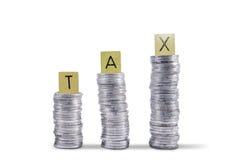 Monete della riscossione delle imposte -  Fotografia Stock