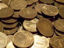 Monete della rublo Fotografia Stock