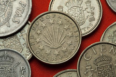 Monete della Spagna Camino de Santiago Immagine Stock Libera da Diritti