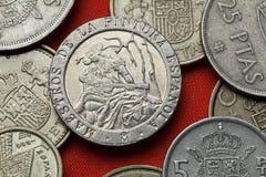Monete della Spagna Pittore spagnolo Ramon Bayeu Fotografie Stock