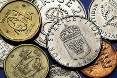 Monete della Svezia Fotografia Stock Libera da Diritti