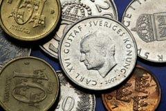 Monete della Svezia Immagini Stock