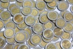10 monete di baht Fotografia Stock Libera da Diritti