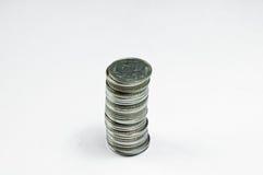 Monete di baht tailandese Fotografia Stock