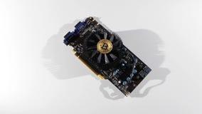 Monete di Bitcoin per l'economia video d archivio