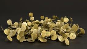 Monete di caduta della rublo russa Fotografie Stock Libere da Diritti
