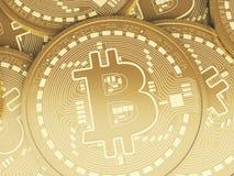 monete di 3d Bitcoin Concetto di Cryptocurrency Fotografie Stock Libere da Diritti