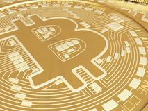 monete di 3d Bitcoin Concetto di Cryptocurrency Fotografia Stock Libera da Diritti