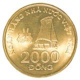 2000 monete di Dong del vietnamita Fotografia Stock Libera da Diritti