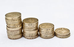 Monete di libbra Immagine Stock