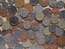 Monete di libbra immagine stock libera da diritti