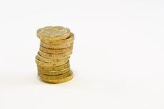 Monete di libbra britannica Fotografie Stock