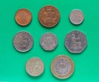 Monete di libbra di GBP Immagine Stock