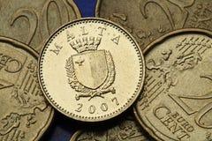 Monete di Malta fotografie stock libere da diritti