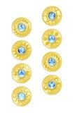 Monete di oro Immagine Stock