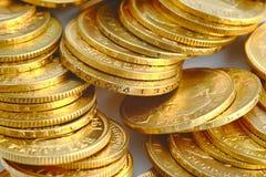 Monete di oro Immagini Stock Libere da Diritti