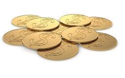 Monete di oro Fotografie Stock Libere da Diritti
