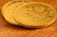 3 monete di oro Fotografia Stock Libera da Diritti