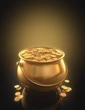 Monete di oro Fotografia Stock Libera da Diritti