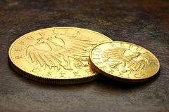 Monete di oro austriache Fotografie Stock Libere da Diritti