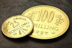 Monete di oro austriache Fotografie Stock