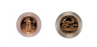 Monete di oro degli Stati Uniti Immagini Stock