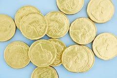 Monete di oro del cioccolato Fotografia Stock